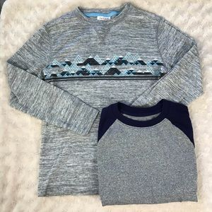 Cat & Jack Boy's Shirt Bundle Medium 8/10 Gray